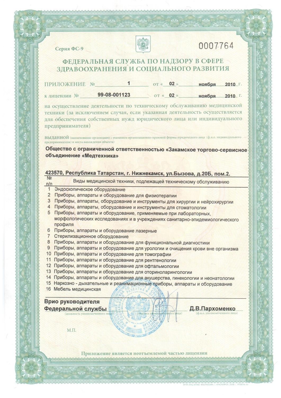 получение лицензии на медицинскую технику
